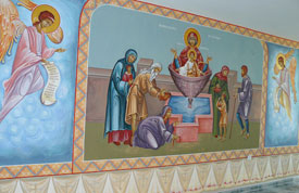 The Virgin Mary, A Source of Life. Wall-painting.